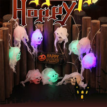 String Lights Halloween Led String Light Ghost Skull Decorative Lights Fairy LED Garland Decoration Lights With 10 LED Beads 64P(China)