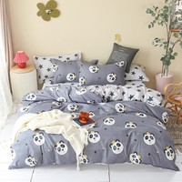 Home Textile Cartoon panda Bedding Sets Children's bedclothes Bed Linen Duvet Cover twin queen king star Bed Sheet Pillowcase