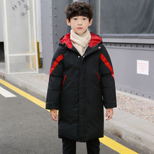 Boys cotton padded winter clothes middle long new childrens thickened jacket