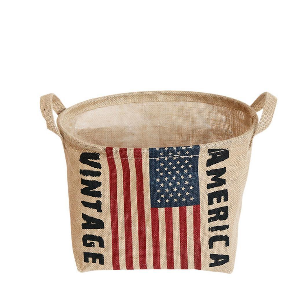 Cotton Linen Storage Bucket Waterproof Household Sundries As Picture Storage Basket 1-5