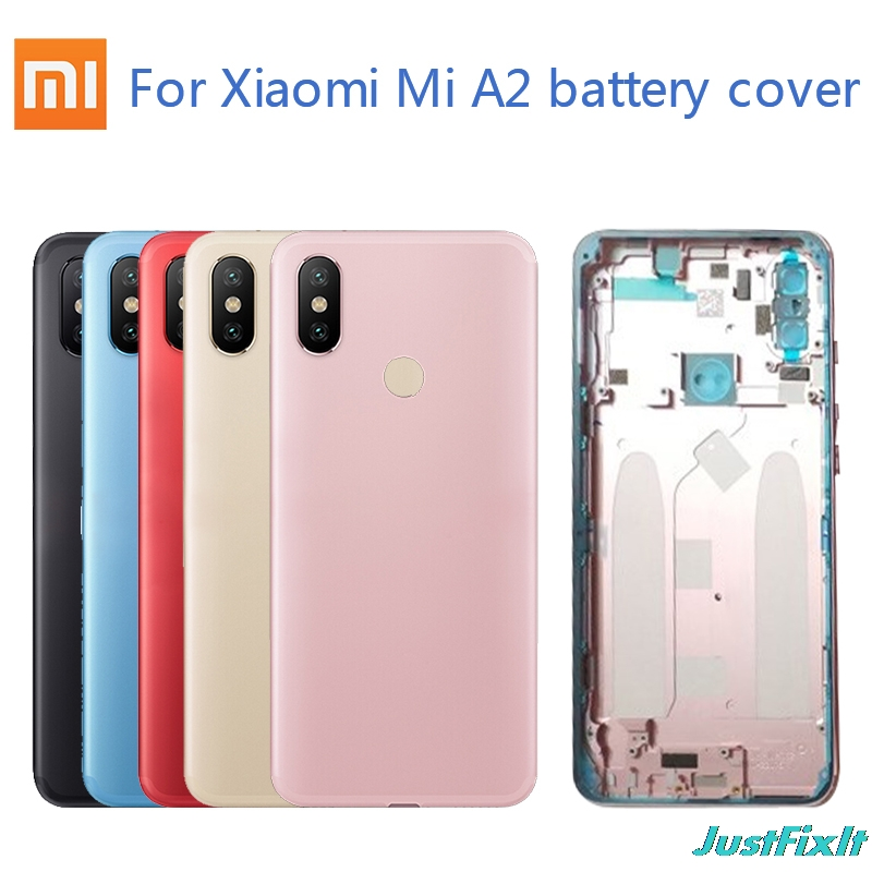 Original <font><b>Battery</b></font> <font><b>Cover</b></font> For <font><b>Xiaomi</b></font> <font><b>Mi</b></font> <font><b>A2</b></font>/<font><b>Mi</b></font> <font><b>A2</b></font> Lite Back glass <font><b>Cover</b></font> Back Door Replacement For miA2/<font><b>mi</b></font> <font><b>A2</b></font> Lite <font><b>Battery</b></font> <font><b>Cover</b></font> Case image