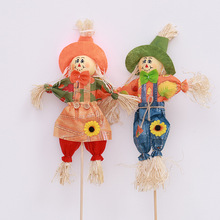 Cute Pumpkin Witch Scarecrow Halloween Decoration halloween decor party decoration shopping mall window display props