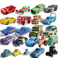 Disney Pixar Cars 3-Rayo McQueen Mater Pision Cup Mater 1:55, juguete de coche de aleación de Metal fundido a presión, regalo de cumpleaños para niños
