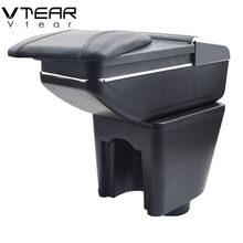 Vtear-apoyabrazos para consola central de Chevrolet Aveo Sonic Lova T250, caja de almacenamiento, reposabrazos, decoración para coche, accesorios reposabrazos auto accesorios coche interior