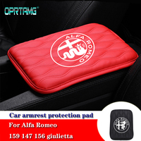 Fashion 2019 Car Console Box Armrest Pad Protective Mat Cover for alfa romeo 159 147 156 giulietta 147 159 mito Auto Accessories