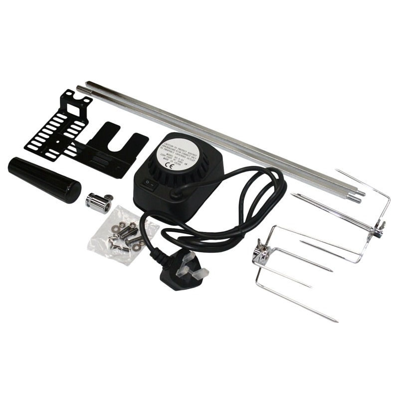 Bbq Barbecue Rotisserie Spit Universal Kit Bbq Motor For Electric Barbecue Uk Plug