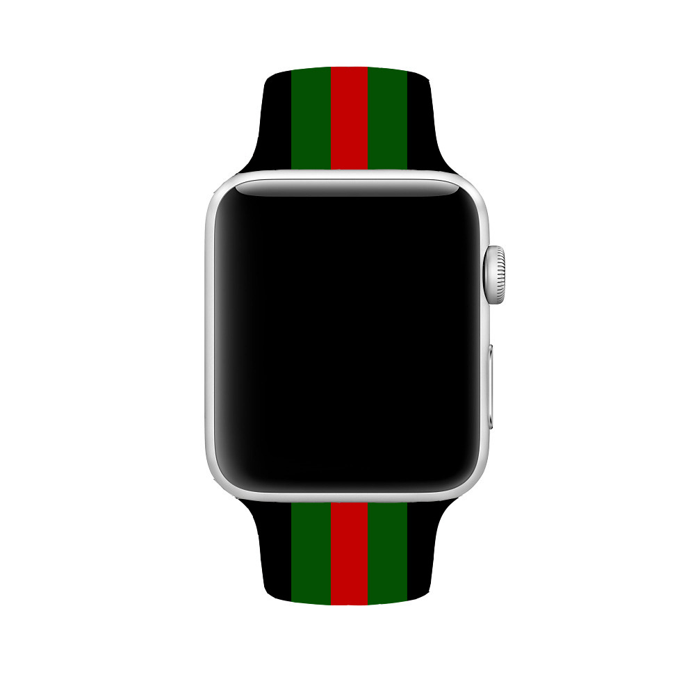 APPLE Watch Apple Printed Silicone Watch Strap Applicable IWatch Amazon Hot Selling Silica Gel Colour Printing Watch Strap
