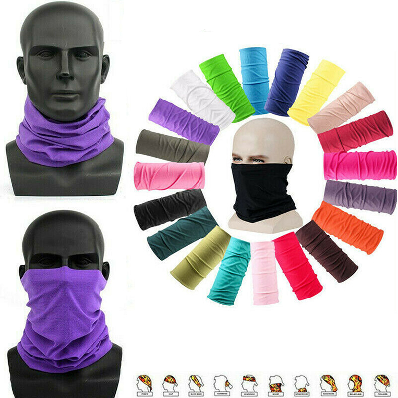 1 Pcs Seamless Magic Hair Scarf Women Turban Anti-spray Anti-fog Soft Bandana Unisex For Outdoors Multipurpose Face Mask