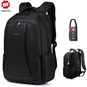 Mochila antirobo Tigernu de nailon 27L para hombre de 15,6 pulgadas, mochila para ordenador portátil, mochila de viaje de moda escolar para hombre, mochila informal para mujer