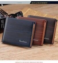 Männer Slim Karte Halter Bifold Brieftasche mit Stich Details