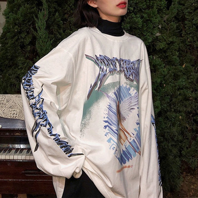 Halloween Skull Funny Cartons Print Fashion Girls Women Sweatshirt Loose Oversized Hoodie Drop-shoulder Casual Sport Plus Size