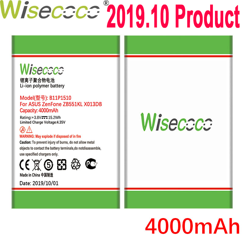 WISECOCO New 4000mAh B11P1510 <font><b>Battery</b></font> For <font><b>ASUS</b></font> ZenFone Go TV <font><b>ZB551KL</b></font> X013DB Mobile Phone With Tracking Number image