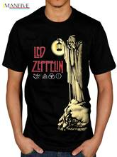 Official Led Zeppelin Hermit T-Shirt Stairway To Heaven Punk Rock Indie Fashiont Shirt Free Shipping Basic Models