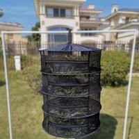 Multi-Camada de secagem Net Cesta de Suspensão Com Zíper Dobrável Saco de Rack Secador De Erva Seca Malha Para Ervas Flores Buds plantio de Secagem