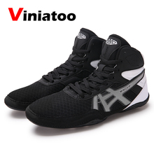 New Mens Boxing Shoes Big Size 36-46 Red Blue Boxing Shoes Men Quality Flighting Boxing Sneakers Breathable Wrestling Sneakers