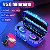 Bluetooth 5,0 Kopfhörer G6s Led-anzeige TWS Wireless Stereo Ohrhörer IPX7 Wasserdichte Sport Headset mit 2200/3500mAh Lade box