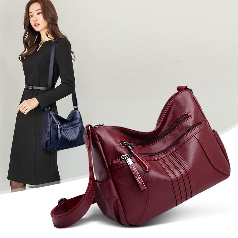 Image 5 - 2019 женская сумка через плечо, Роскошная большая сумка из мягкой кожи, женские сумки мессенджеры, большие женские сумки, дизайнерская брендовая сумка bolsa feminina-in Сумки с ручками from Багаж и сумки