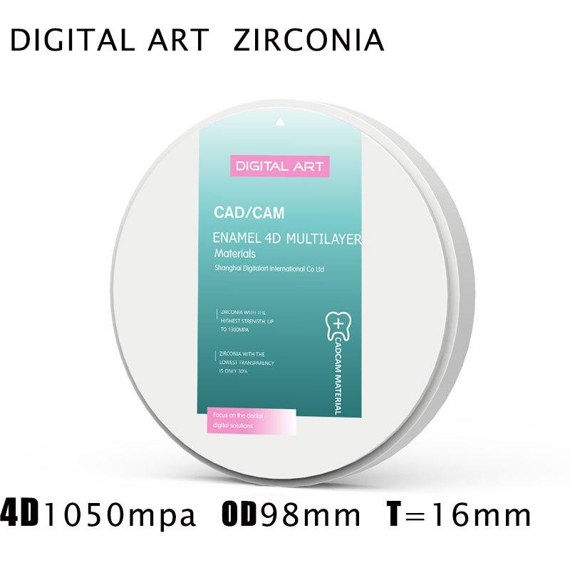 bloco anterior da zirconia de digitalart disco em branco 4dml98mm16mma1 d4 da zirconia translucida de prettau