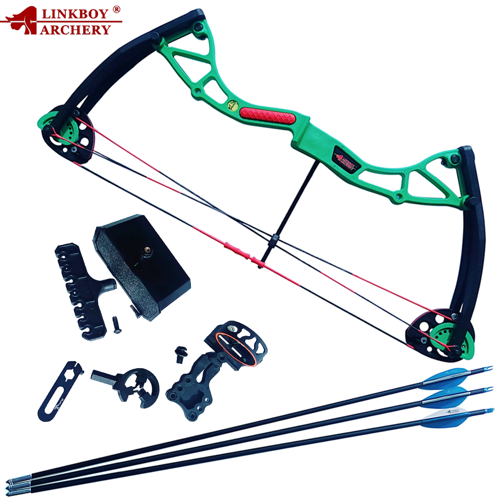 Linkboy Archery Children Compound Bow 10 20 Lbs Draw Length 17 26 Inches for Children Archery