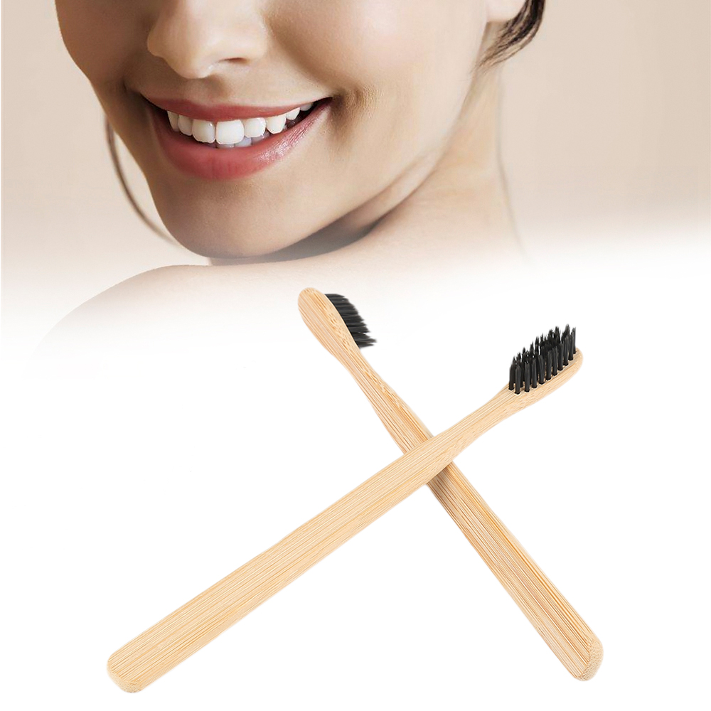 Environmental Bamboo Charcoal Health Toothbrush 2/1 PCS For Oral Care Teeth Cleaning Eco Medium Soft Bristle Brushes image