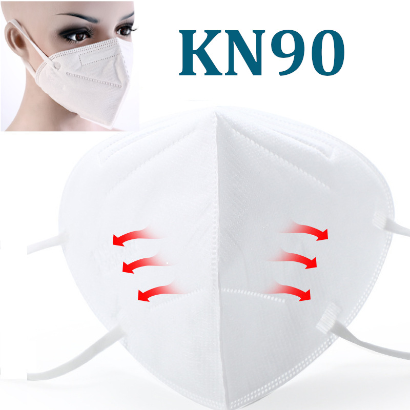 5Pcs KN90 Anite Virus Mask For Air Pollution Face Dust Mask For Germ Protective Masks K N90 Bacteria Proof Filter Safety Work