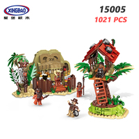 XINGBAO 15005 Forest Adventure Series 1021PCS Field Survival Camp Building Blocks Primitive Forest Tribe Bricks Boys Toys Gifts