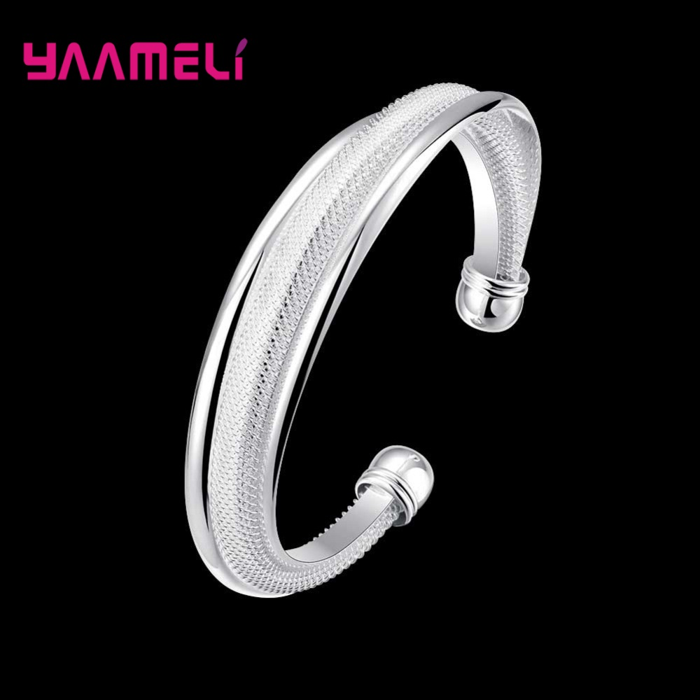 Original 925 Sterling Silver Retro Twisted Open Bracelets For Women Trendy Fashion Bangle Wholesale Unique Jewelry Free shipping