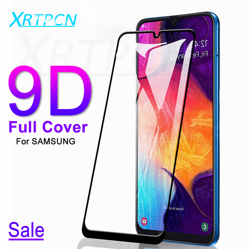 9D Tempered Glass On For Samsung Galaxy A10 A20 A30 A40 A50 A60 A70 A80 A90 Glass M10 M20 M30 M40 Screen Protective Film Case