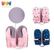 Зимние Детские перчатки; лыжные перчатки для девочек; зимние теплые водонепроницаемые ветрозащитные Нескользящие флисовые варежки
