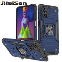 Custodia per telefono antiurto per Samsung Galaxy M21 M31 M51 supporto per auto con copertura di protezione ad anello per Samsung Galaxy M30S M31S