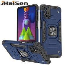 Stoßfest Rüstung Telefon Fall Für Samsung Galaxy M21 M31 M51 Auto Halter mit Ring Schutz Abdeckung Für Samsung Galaxy M30S m31S