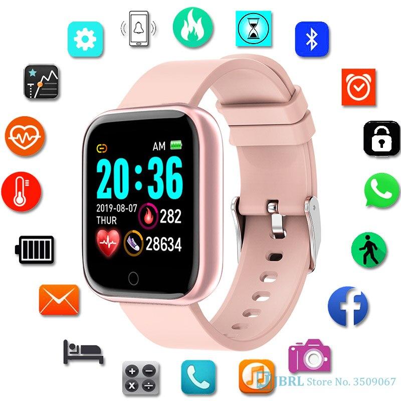 Y68 relógio inteligente crianças crianças smartwatch para meninas meninos relógio inteligente eletrônico estudantes criança esporte inteligente-relógio com idade 8-18 ano