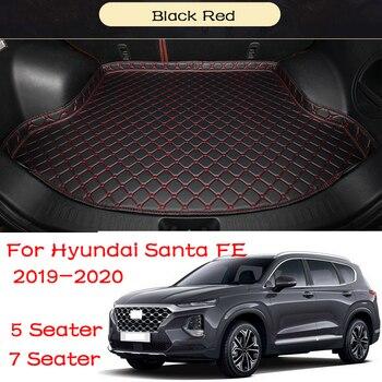 Car Custom Trunk Mat Car Waterproof Anti-dirty Boot Liner Tray Rear Trunk 5 Seater 7 Seater For Hyundai Santa Fe 2019 2020