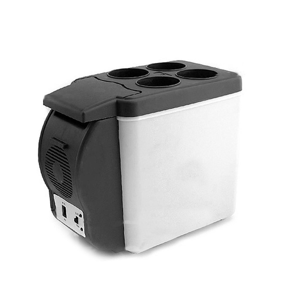 12V 6L Mini Car Refrigerator Dual Use Beverage Cooler Warmer ABS Portable Outdoor Travel Freezer Universal Refrigerator
