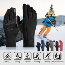 Winter Warm Gloves Men Women Touchscreen Rainproof Skiing with Lining For Fishing Camping Hiking