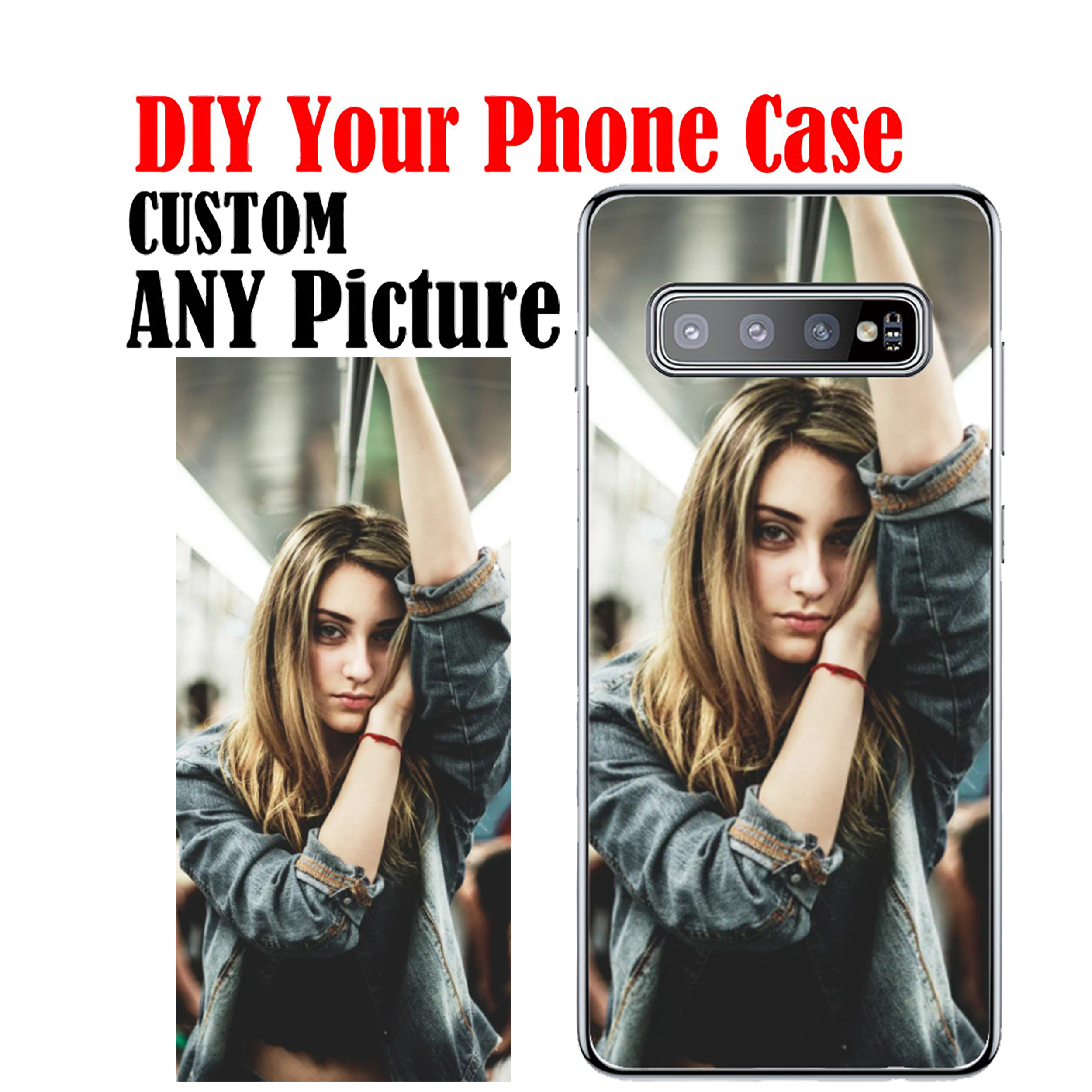 Custom Personalized Silicone Case Coque Add Your Own Photo Picture Phone Case for Samsung S20 Ultra S11 S10E S20 S11 S10 S9 S8P image