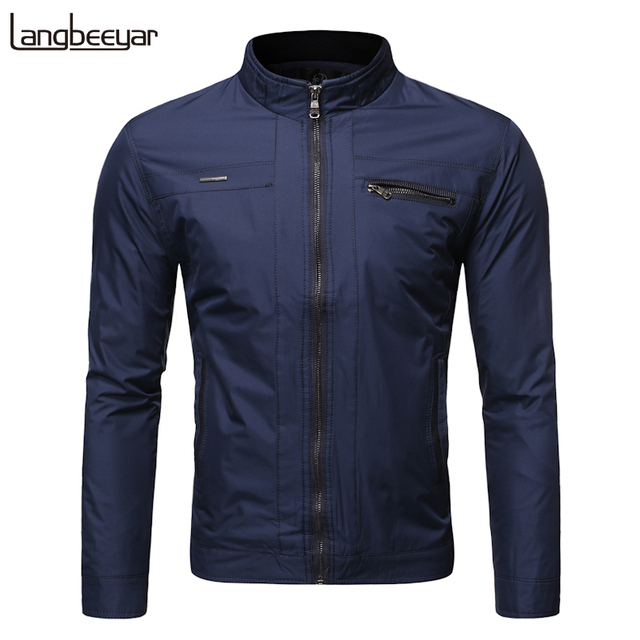New Fashion Jackets Mens Autumn Winter Streetwear Trend Overcoat Windbreakers Stand Collar Casual Coat Mens Clothing