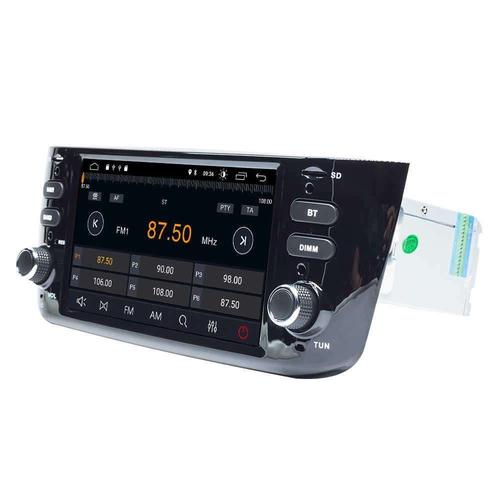 4GB Autoradio 1 DIN Android 10 DVD Xe Hơi Stereo Cho Fiat/Linea/Punto EVO 2012-2015 Đa Phương Tiện Dẫn Đường GPS IPS DSP 8 Nhân