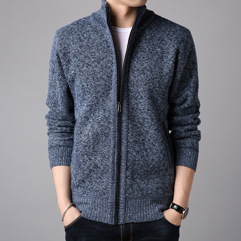 PopularStyle Wholesale New Sweater Velvet Thicker Sweater Men's Sweaters Keep Warm Knitted Shirts Casual Sweaters Trendy Jackets