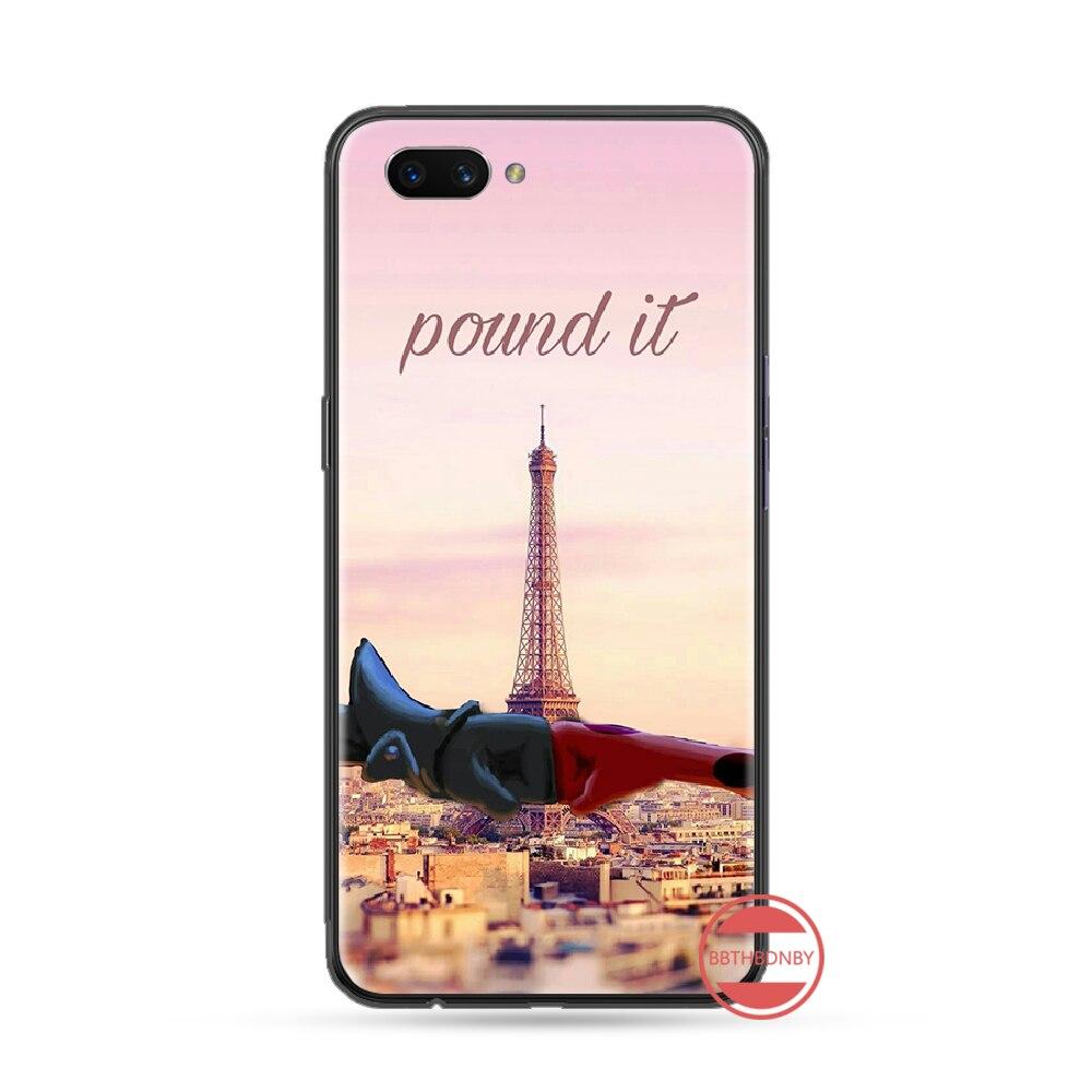 Tháp Eiffel Xây Dựng Paris Đen TPU Cao Su Mềm Điện Thoại Bao Da Dành Cho Oppo F9 K1 A77 F3 RENO F11 A5 A9 2020 A73S R15 Realme Pro