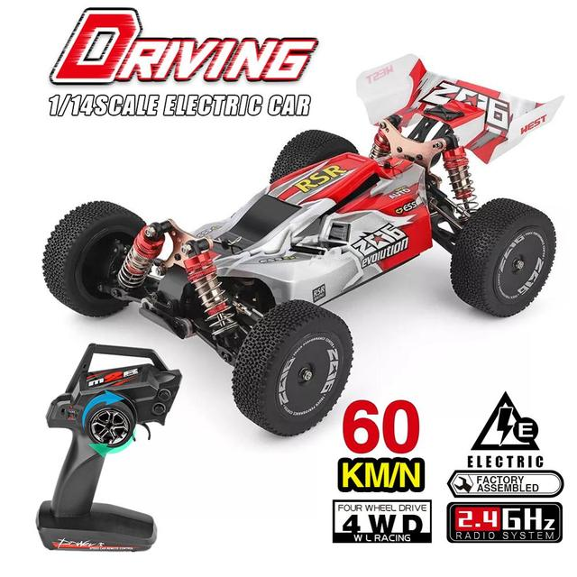 WLtoys 1/14 144001 RTR 2.4GHz RC Car Scale Drift Racing Car 4WD Metal Chassis Hydraulic Shock Absober Off-Road Vehicle Toy 5