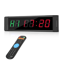 Programable Remote control LED crossfit timer Interval Timer garage sports training clock Crossfit gym