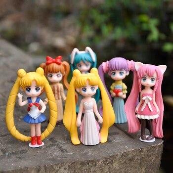 Anime Sailor Moon Tsukino Usagi Hatsune Miku PVC Action Figure Anime Figurines Collectible Dolls Kids Model Toy Dolls twinkle dolly anime sailor moon tsukino usagi serenity luna black lady pvc action figure anime model kids toys doll 6cm 5pcs set