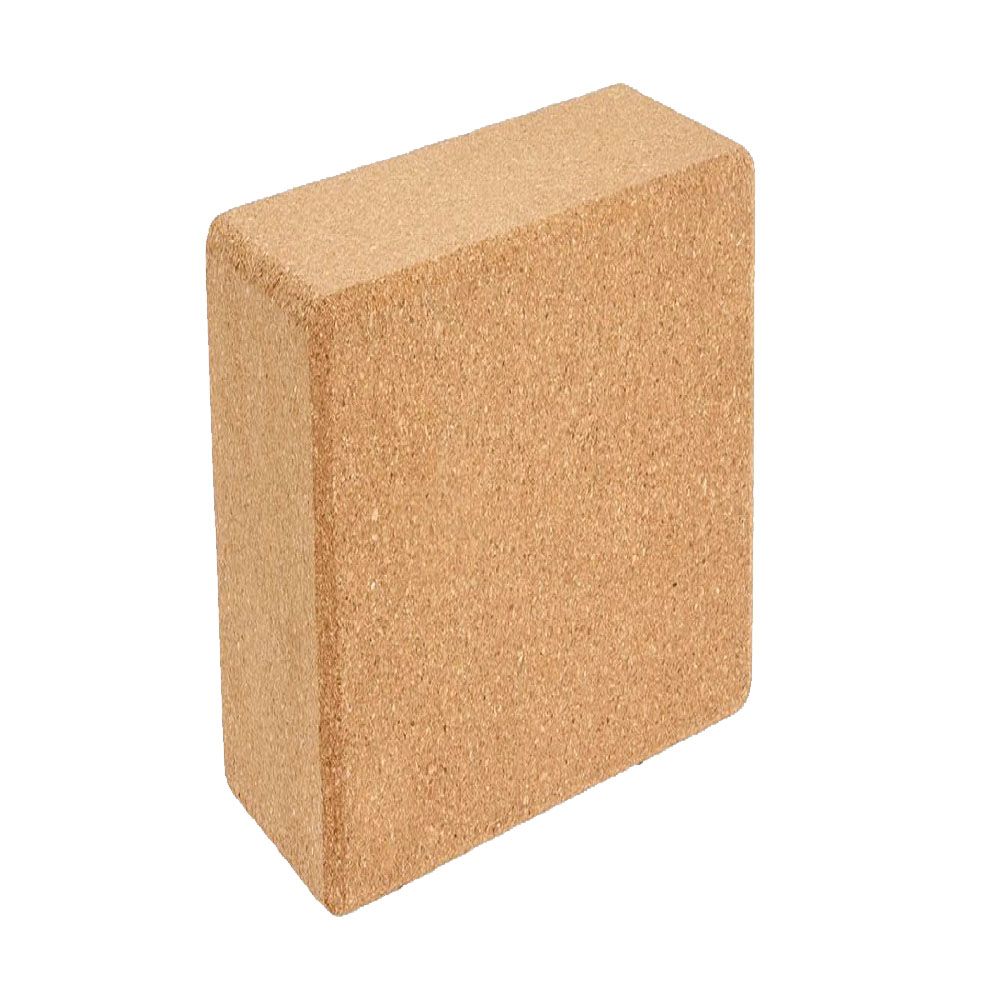 1PC 100% Cork Wood Yoga Block Brick Workout Equipment Odorless Fitness Gym Exercise Sport Tool Can Accept Logo Patter Design 3