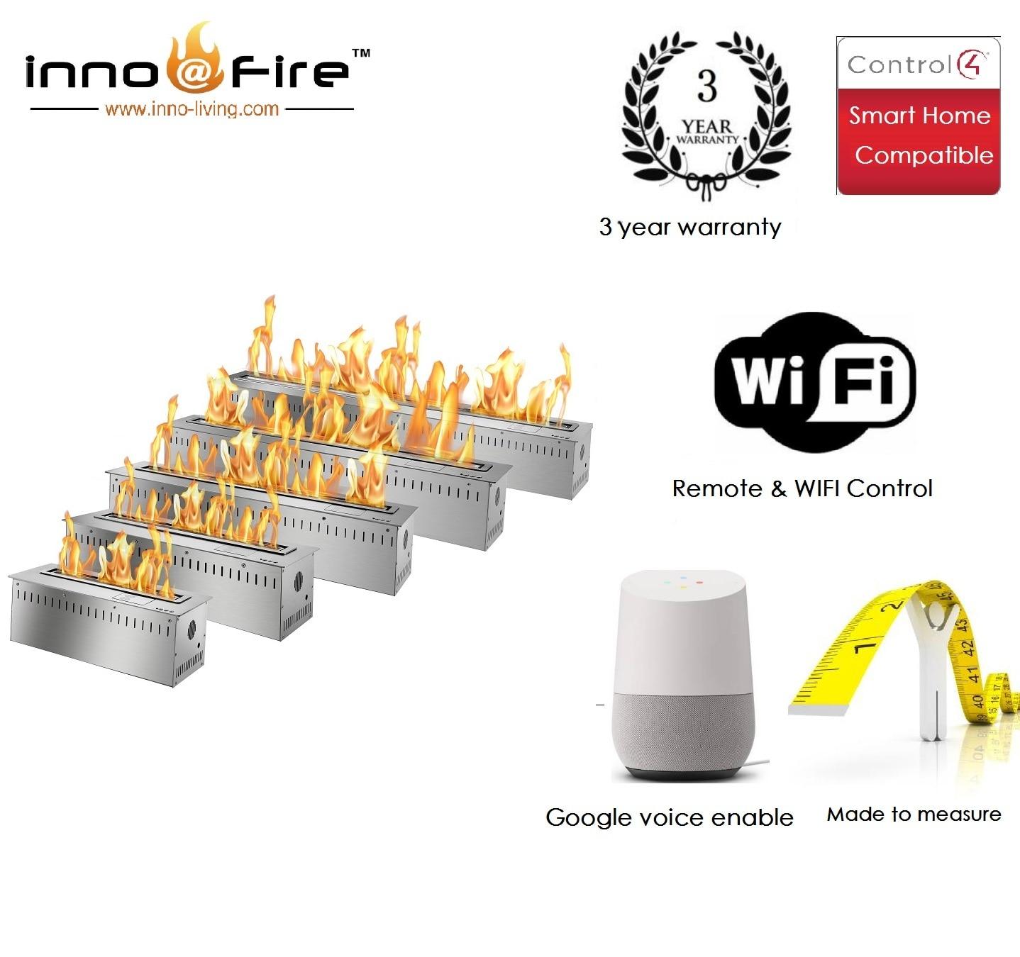 Inno Living 24 Inch Intelligent Fireplace Wifi Control Bio Ethanol Fuel