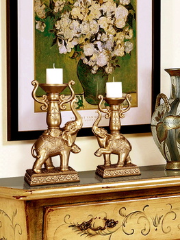 European-style candle holder decoration elephant Candlestick Living room fireplace decoration wine cabinet porch furnishings