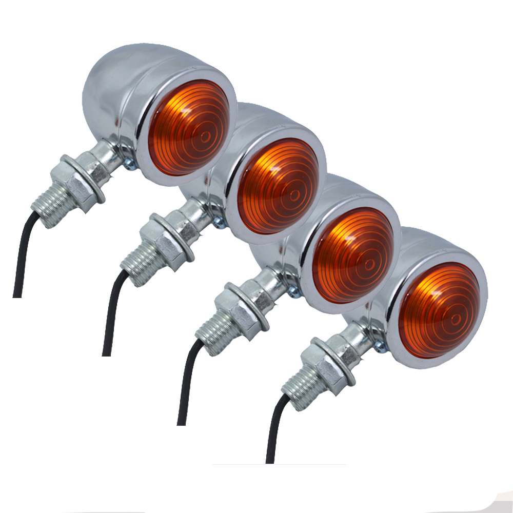 4x Mini Motorcycle Chopper Bike Turn Signals Flashers Universal Motorbike Light For Suzuki TS DR DRZ DR350 650 DL DRZ400 GSXR SV