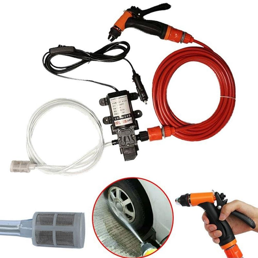 Car Paint Care Portable 70W 130PSI 12V High Pressure Self-Priming Car Wash Pump Cleaning Tool Car Cleaning Glue Cleaner
