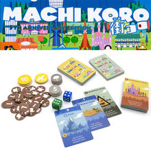 machi koro board games build city family party game for Adults, Teens & Kids 2-4 Players fun card game for travel
