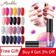 MORDDA 5 ML esmalte de Gel para arte de uñas diseño DIY UV LED 60 colores esmalte de uñas híbrido de larga duración herramientas de manicura laca de Gel